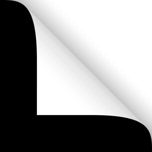 paper - corner above white on blackの写真素材 [FYI00879991]