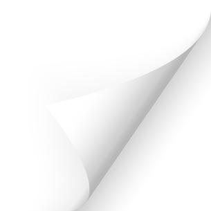 paper - corner below whiteの写真素材 [FYI00880015]