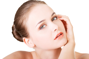 beautiful face of spa woman with healthy clean skin.の写真素材 [FYI00880081]