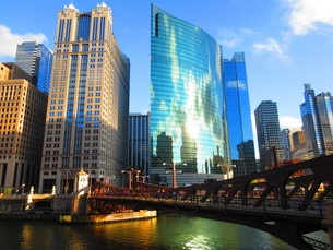 chicago riverの写真素材 [FYI00880460]