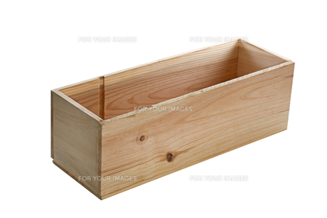 small wooden box with lid openの写真素材 [FYI00882341]