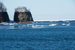 流氷が浮かぶ海の写真素材 [FYI00884084]