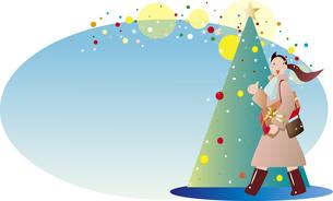クリスマスのショッピングのイラスト素材 [FYI00884575]