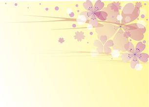 桜の背景のイラスト素材 [FYI00884714]