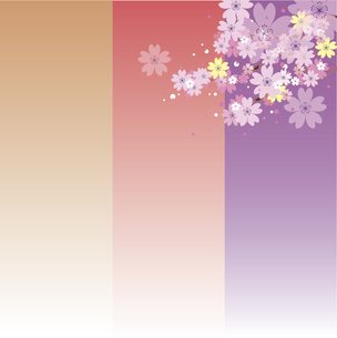 桜の背景のイラスト素材 [FYI00884715]