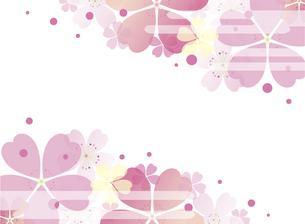 桜の背景のイラスト素材 [FYI00884717]