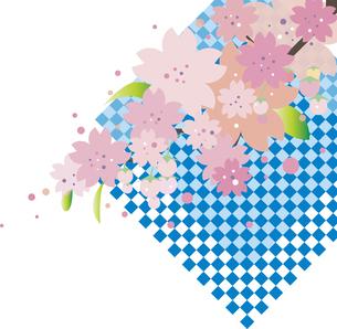 桜の背景のイラスト素材 [FYI00884720]