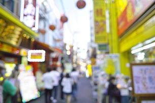 横浜中華街(ボケ素材)の写真素材 [FYI00884721]