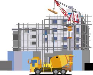 建築工事現場のイラスト素材 [FYI00884768]