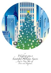 クリスマスカードのイラスト素材 [FYI00884973]