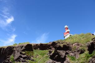 深浦町の灯台の写真素材 [FYI00885216]