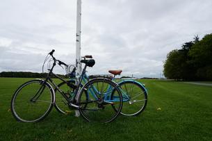 自転車と公園の写真素材 [FYI00885293]