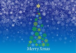雪の結晶 クリスマスツリー ベクターのイラスト素材 [FYI00885422]