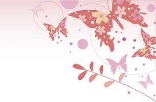 和風の蝶の背景のイラスト素材 [FYI00885435]