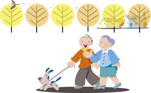 老夫婦の散歩のイラスト素材 [FYI00885437]