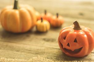 ハロウィンのかぼちゃの写真素材 [FYI00885776]