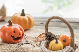 ハロウィンのかぼちゃの写真素材 [FYI00885785]