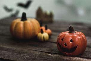 ハロウィンのかぼちゃの写真素材 [FYI00885790]