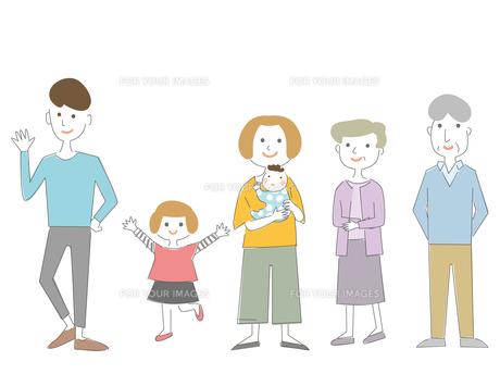 シンプルな家族のイラスト02のイラスト素材 [FYI00885916]