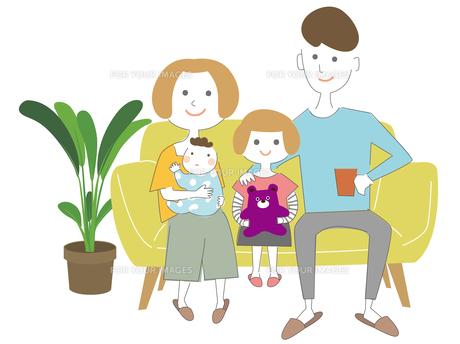 シンプルな家族のイラスト01のイラスト素材 [FYI00885917]