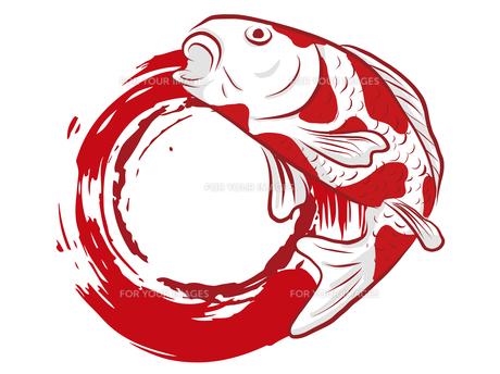 鯉の和柄背景素材のイラスト素材 [FYI00885921]