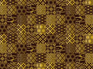 金と黒の和柄の背景のイラスト素材 [FYI00885938]