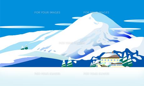 雪国のイラスト素材 [FYI00886227]