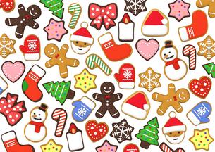 クリスマスクッキー 3Dイラストのイラスト素材 [FYI00886278]