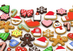 クリスマスクッキー 3Dイラストのイラスト素材 [FYI00886279]