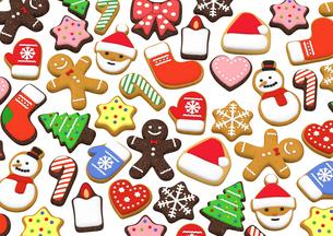 クリスマスクッキー 3Dイラストのイラスト素材 [FYI00886281]