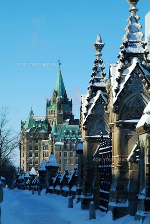 オタワの冬景色の写真素材 [FYI00886356]