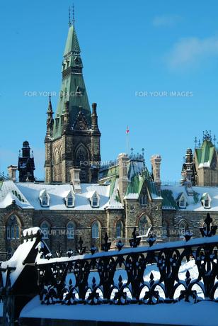 オタワの冬景色の写真素材 [FYI00886358]