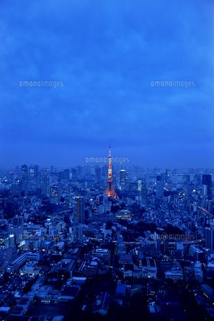 夕暮れの東京の写真素材 [FYI00886402]