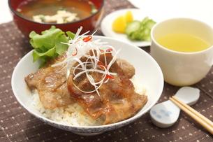 豚丼の写真素材 [FYI00886541]
