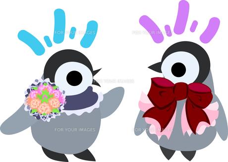 おしゃれで可愛い赤ちゃんペンギンのイラストのイラスト素材 [FYI00886660]