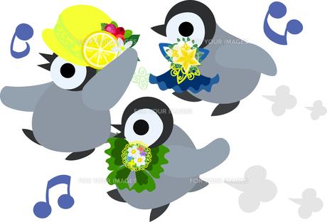 おしゃれで可愛い赤ちゃんペンギンのイラストのイラスト素材 [FYI00886662]