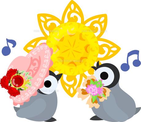 おしゃれで可愛い赤ちゃんペンギンのイラストのイラスト素材 [FYI00886664]
