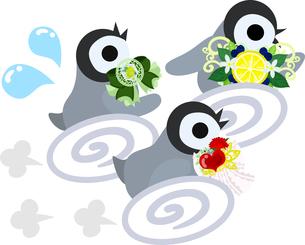 おしゃれで可愛い赤ちゃんペンギンのイラストのイラスト素材 [FYI00886667]