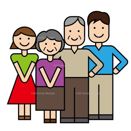 家族 高齢者のイラスト素材 [FYI00886756]