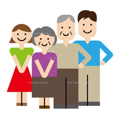 家族 高齢者のイラスト素材 [FYI00886757]