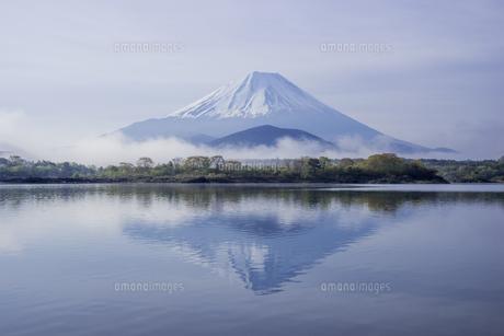 朝もやの富士山の写真素材 [FYI00887156]