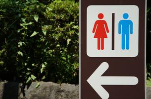 公園のお手洗いの案内看板の写真素材 [FYI00887157]