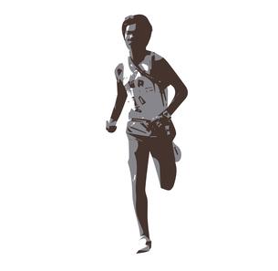 マラソンランナーのイラスト素材 [FYI00887294]