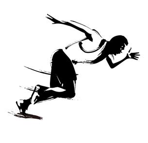 陸上競技 100m走のイラスト素材 [FYI00887324] | ストックフォトのamanaimages PLUS