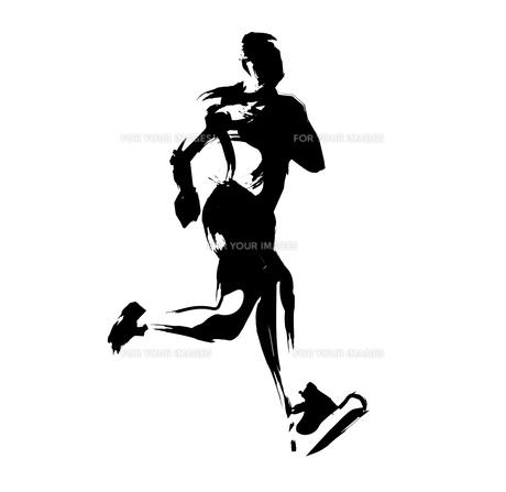 マラソンランナーのイラスト素材 [FYI00887325]