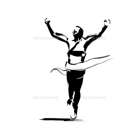 マラソンランナーのイラスト素材 [FYI00887327]