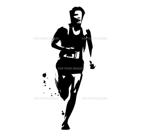 マラソンランナーのイラスト素材 [FYI00887328]