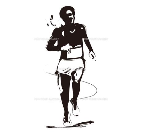 マラソンランナーのイラスト素材 [FYI00887330]