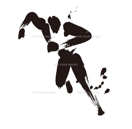 陸上競技 100m走のイラスト素材 [FYI00887331]