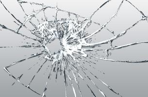 割れたガラスのイラスト素材 [FYI00887427]